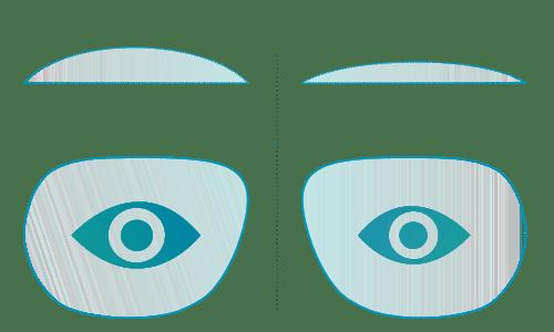 Geringere Eigenvergößerung der Augen durch neues Gleitsichtglas